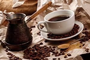Hintergrundbilder Kaffee Getreide Tasse Cezve Löffel das Essen
