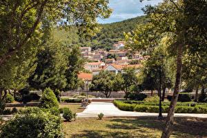 Picture Croatia Building Park Trees Bush  Cities