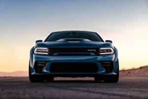 Hintergrundbilder Dodge Vorne Blau Charger Hellcat SRT Widebody 2020 auto