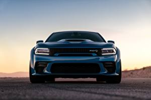 Wallpapers Dodge Front Blue Charger Hellcat SRT Widebody 2020