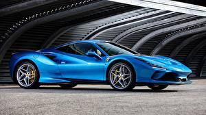 Fotos Ferrari Blau Metallisch Coupe 2019, Tributo, Ferrari F8 auto