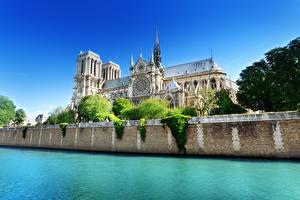 Fotos Frankreich Flusse Kathedrale Paris Seine, Notre-Dame de Paris Städte