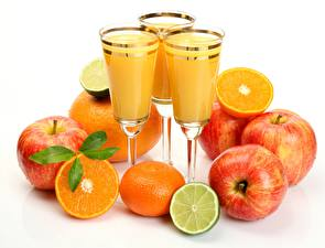 Wallpaper Fruit Juice Lime Orange fruit Apples Stemware Food