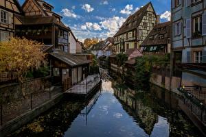 Hintergrundbilder Gebäude Frankreich Kanal Colmar, Alsace