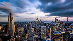 Sfondi desktop Edificio Grattacielo Stati uniti New York Megalopoli Empire State Building