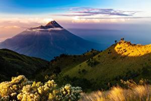 Fotos Indonesien Berg Vulkane Island Java