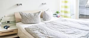 Wallpaper Interior Bedroom Bed Pillows