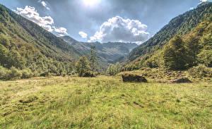 Hintergrundbilder Italien Berg Alpen Gras Bäume