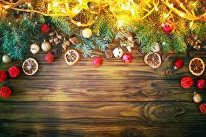 Hintergrundbilder Schmuck Neujahr Bretter Ast Lichterkette Vorlage Grußkarte
