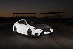 Hintergrundbilder Lexus Weiß 2019 RC F Track Edition automobil