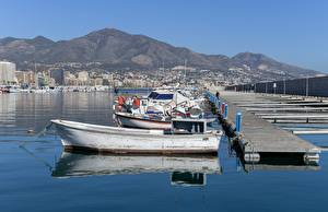 Fotos Bootssteg Boot Spanien Motorboot Fuengirola Harbour Städte