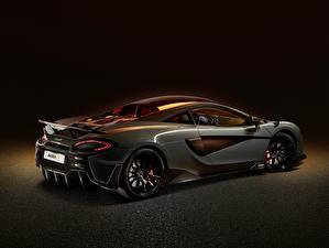 Wallpaper McLaren Side Gray Metallic Coupe 2019, 600LT, sports automobile