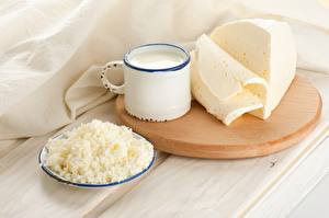 Picture Milk Cheese Quark curd cottage farmer cheese Cutting board Mug