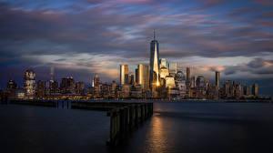 Hintergrundbilder Morgen Morgendämmerung und Sonnenuntergang Haus USA Hoboken, New Jersey Städte