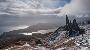 Bilder Landschaftsfotografie Insel Schottland Wolke Felsen Isle of Skye