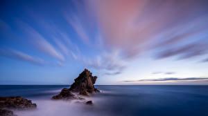 Fotos Meer Portugal Himmel Felsen Madeira