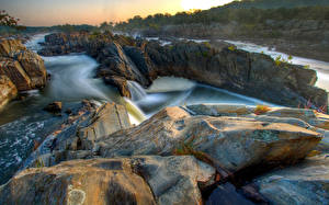 Fotos Stein Fluss HDRI Felsen Natur