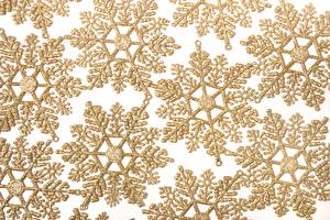 Picture Texture Snowflakes Gold color
