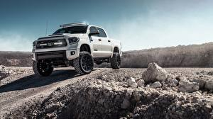 Pictures Toyota Pickup White Tundra 2019 automobile