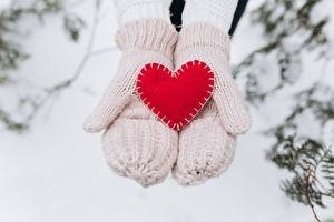 Fotos Valentinstag Fausthandschuhe Herz Hand