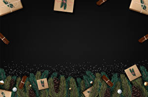 Hintergrundbilder Vektorgrafik Neujahr Zimt Vorlage Grußkarte Ast Zapfen Geschenke