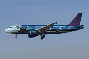 Hintergrundbilder Flugzeuge Airbus Verkehrsflugzeug Seitlich Brussels Airlines, A320-200