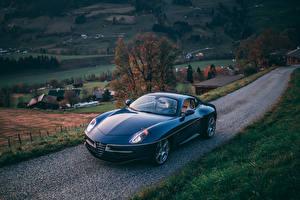 Fotos Alfa Romeo Blau Metallisch 2017 Disco Volante Touring auto