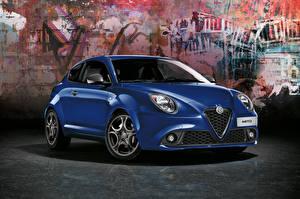 Bilder Alfa Romeo Blau Metallisch  auto