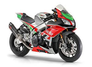 Hintergrundbilder Aprilia Fahrzeugtuning Weißer hintergrund 2018 RSV4 FW-GP Motorräder