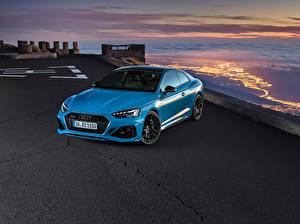 Bilder Audi Coupe Hellblau Metallisch  auto