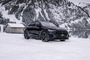 Hintergrundbilder Audi Winter Schwarz Metallisch 2019-20 ABT SQ8 TDI automobil