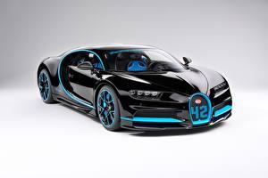 Hintergrundbilder BUGATTI Schwarz Metallisch Coupe Bugatti Chiron, giperkar Autos