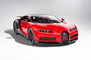 Bilder BUGATTI Rot Metallisch Coupe Bugatti Chiron, giperkar