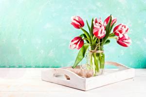 Bilder Sträuße Tulpen Vase