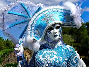 Hintergrundbilder Karneval und Maskerade Maske Der Hut Regenschirm