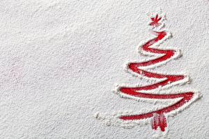Hintergrundbilder Neujahr Mehl Schnee Tannenbaum