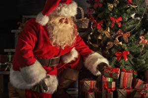 Bilder Neujahr Weihnachtsmann Geschenke