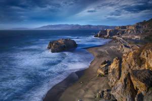 Fotos Küste Vereinigte Staaten Felsen Kalifornien Point Lobos, Sutro Baths Natur