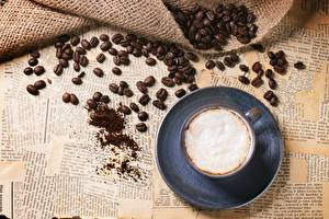 Images Coffee Cappuccino Cup Grain Foam Food