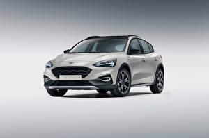 Bilder Ford Grauer Hintergrund Metallisch Weiß Focus, Active, Worldwide auto