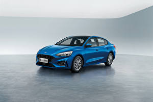 Fotos Ford Blau Metallisch Limousine Focus Edge Sedan, China 2019 auto