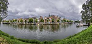 Fotos Deutschland Gebäude Fluss Bootssteg Küste  Städte
