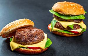 Fotos Burger Fleischbällchen Käse Fast food 2