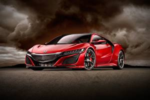 Pictures Honda Red Metallic Coupe Honda NSX