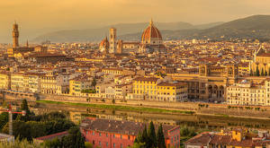 Pictures Italy Tuscany Building River Temple San Niccolo Florence Cities