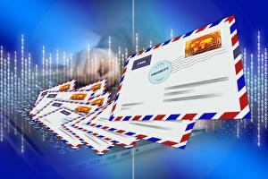 Fotos Viel Vektorgrafik Brief Briefumschlag post, Postal envelope