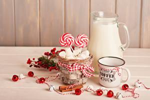 Wallpapers Milk Zefir Lollipop Pitcher Mug Wicker basket Food