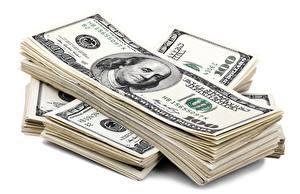 Hintergrundbilder Geld Banknoten Dollars Weißer hintergrund