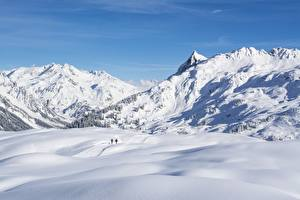 Hintergrundbilder Gebirge Winter Österreich Schnee Vorarlberg