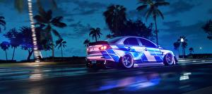 Bilder Need for Speed Mitsubishi Seitlich Fahrendes Heat, Lancer 2019 computerspiel Autos